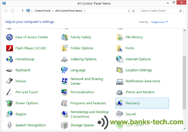 How To Create A Windows 8.1 Recovery Drive - Control Panel
