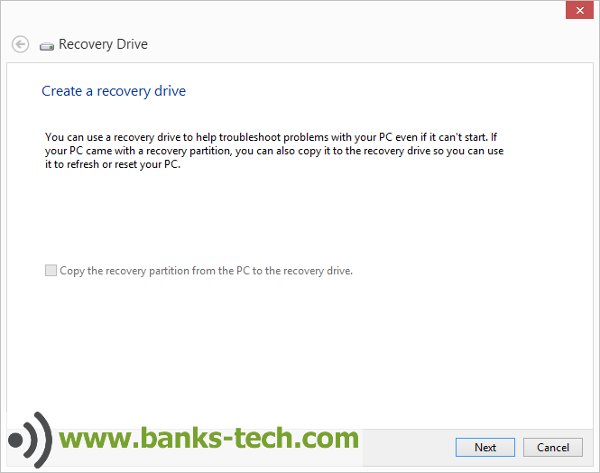 How To Create A Windows 8.1 Recovery Drive - Recovery Drive