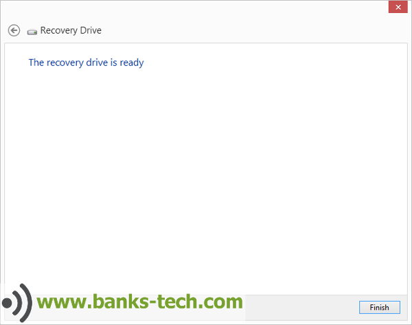 How To Create A Windows 8.1 Recovery Drive - The Recovery Drive Is Ready